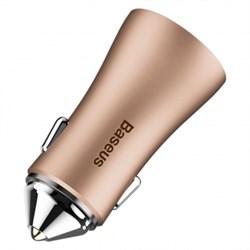 Автомобильные зарядные устройства Baseus golden contactor dual u intelligent car charger (CCALL-DZ12)