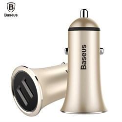 Автомобильные зарядные устройства Baseus trumpet metal power car charger, Золото (CCLB-0V)