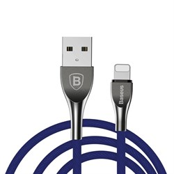 Кабель Baseus Mageweave Zinc Alloy Cable USB For IP 2A 1M, Синий (CALMW-03) - фото 10351
