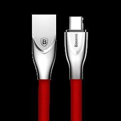 Кабель Baseus Zinc Fabric Cloth Weaving Cable USB For Type-C 2A 1M , Красный (CATXN-09) - фото 10370