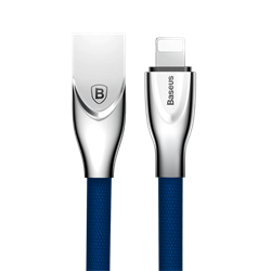 Кабель Baseus Zinc Fabric Cloth Weaving Cable USB For IP 2A 1M, Синий (CALXN-03) - фото 10375