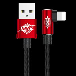 Кабель Baseus MVP Elbow Type Cable USB For IP 1.5A 2M (CALMVP-A09) - фото 10377