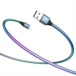 Кабель Baseus Discolor Cable For IP 2A 1M ,Синий (CALGR-0A) - фото 10379
