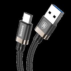Кабель Baseus Golden Belt Series USB3.0 Cable For Type-C 3A , Золотой (CATGB-1V) - фото 10410