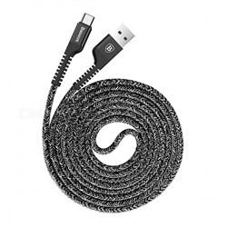 Кабель Baseus Confidant Anti-break Cable For Type-C 2A 1.5M , Черный (CATZJ-B01) - фото 10443