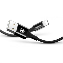 Кабель Baseus Shining Cable with Jet metal 1M, Черный (CALSY-01) - фото 10482