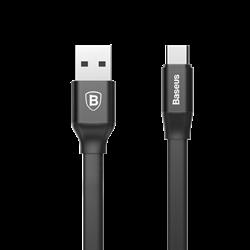 Кабель Baseus Nimble Portable Cable For Type-C 2A 1.2M, Черные (CATMBJ-A01) - фото 10508