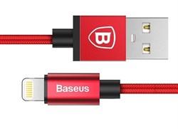 Кабель Baseus Simple Version of AntiLa series MFI Metal earphone For Lightning 1M Красный (CAETRTC-MF09) - фото 10586
