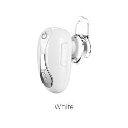 Bluetooth-гарнитура Hoco E12 beetle mini bluetooth earphone (white) - фото 11072
