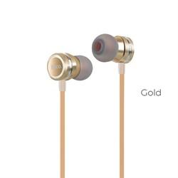 Универсальные наушники с микрофоном Hoco M16 Ling sound  metal (Золото) - фото 11121