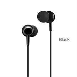 Универсальные наушники с микрофоном Hoco M14 inital sound (Черные) - фото 11122
