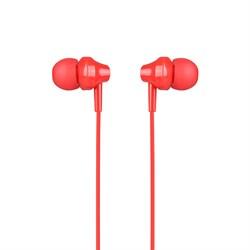 Универсальные наушники с микрофоном Hoco M14 inital sound (Красный) - фото 11124