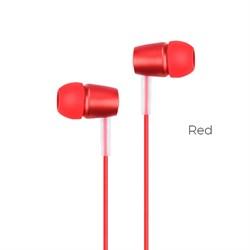 Универсальные наушники с микрофоном Hoco M10 Metal  (Красный) - фото 11132