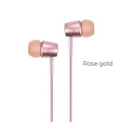 Универсальные наушники с микрофоном Hoco M10 Metal (Розовое золото) - фото 11133