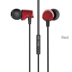 Универсальные наушники с микрофоном Hoco M41 Dizzy с контролем громкости (Красный) - фото 11135