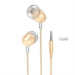Универсальные наушники с микрофоном Hoco M5 Conch (Золото) - фото 11138