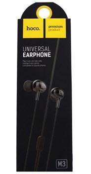 Универсальные наушники с микрофоном Hoco M3  (Черный) - фото 11140