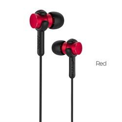 Универсальные наушники с микрофоном Hoco M38 Rhythm  (Красный) - фото 11180