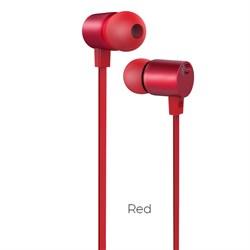 Универсальные наушники с микрофоном Hoco M33 full harmony  с регулировкой громкости (Красный) - фото 11196