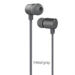 Универсальные наушники с микрофоном Hoco M33 full harmony  с регулировкой громкости  (Серый металлик) - фото 11200