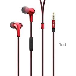 Универсальные наушники с микрофоном Hoco M30 Glaring (Красный) - фото 11214