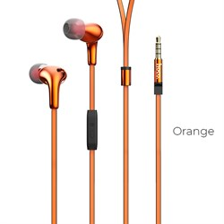 Универсальные наушники с микрофоном Hoco M30 Glaring (Оранжевый) - фото 11216