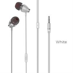 Универсальные наушники с микрофоном Hoco M28 Ariose (Белый) - фото 11228