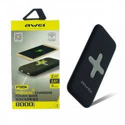 Внешний аккумулятор Awei P98K 8000mAh Black - фото 12298