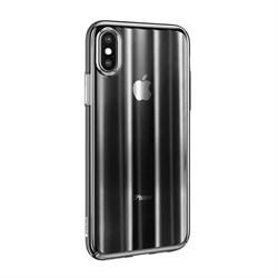 Чехол Baseus Aurora Case For iP X/XS (2018) Transparent Black (WIAPIPH58-JG01) - фото 12957