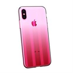Чехол Baseus Aurora Case For iP X/XS (2018) Transparent Pink (WIAPIPH58-JG04) - фото 12967