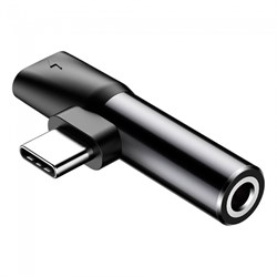 Переходник Baseus L41 USB Type-C - AUX 3.5мм+USB Type-C (CATL41-01) - фото 16638
