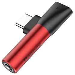 Переходник Baseus L41 USB Type-C - AUX 3.5мм+USB Type-C (CATL41-91) - фото 16641