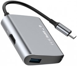 Хаб Baseus Enjoyment series Type-C to HDMI+USB3.0 HUB Adapter (CATSX-D0G) - фото 16673