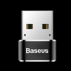 Переходник Baseus USB Male To Type-C Female Adapter Converter 5A (CAAOTG-01) - фото 19547