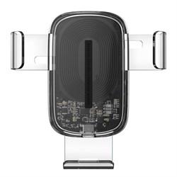 Автомобильный держатель с беспроводной зарядкой Baseus Explore Wireless Charger Gravity Car 15W transparent (WXYL-K02) - фото 35265