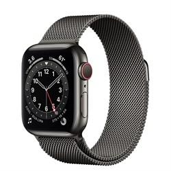 Часы Apple Watch 6 (Корпус из стали графитового цвета - Миланский графитовый ремешок) - фото 35365