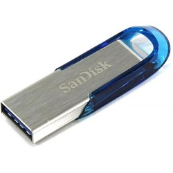 Флеш-накопитель USB 3.0  32GB  SanDisk  Ultra Flair  корпус металл/синий - фото 9386