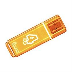 Флеш-накопитель USB  4GB  Smart Buy  Glossy  оранжевый - фото 9421