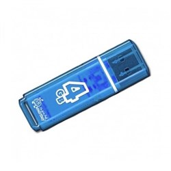 Флеш-накопитель USB  4GB  Smart Buy  Glossy  синий - фото 9422