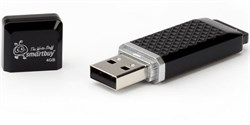 Флеш-накопитель USB  4GB  Smart Buy  Quartz  чёрный - фото 9425