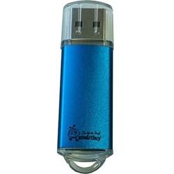 Флеш-накопитель USB  4GB  Smart Buy  V-Cut  синий - фото 9427