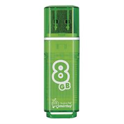 Флеш-накопитель USB  8GB  Smart Buy  Glossy  зелёный - фото 9439