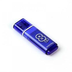 Флеш-накопитель USB  8GB  Smart Buy  Glossy  синий - фото 9441