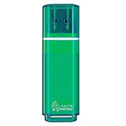 Флеш-накопитель USB  64GB  Smart Buy  Glossy  зелёный - фото 9522
