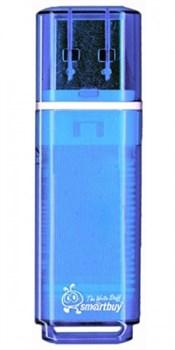 Флеш-накопитель USB  64GB  Smart Buy  Glossy  синий - фото 9523