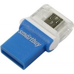 Флеш-накопитель USB  64GB  Smart Buy  Poko  OTG  синий - фото 9527