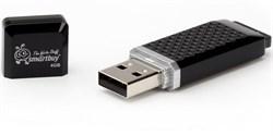 Флеш-накопитель USB  64GB  Smart Buy  Quartz  чёрный - фото 9530