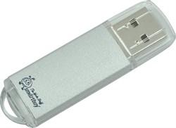 Флеш-накопитель USB  64GB  Smart Buy  V-Cut  серебро - фото 9531