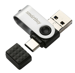Флеш-накопитель USB 3.0  32GB  Smart Buy  Trio  3-in-1 (USB Type-A + USB Type-C + micro USB) - фото 9546