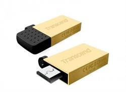 Флеш-накопитель USB  8GB  Transcend  JetFlash 380  золото  (USB+microUSB)  for Android smartphones - фото 9571